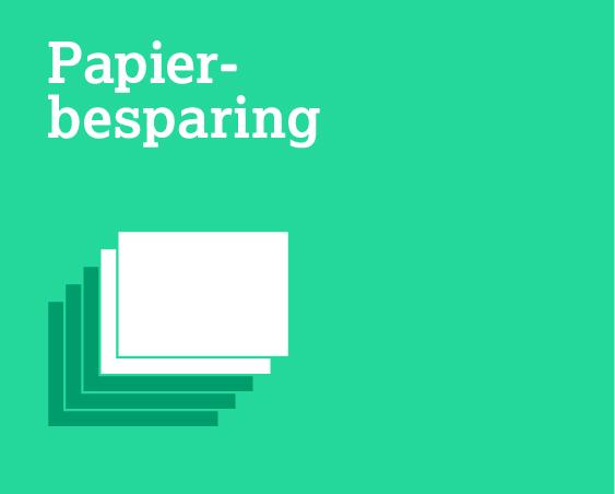 Papier- besparing